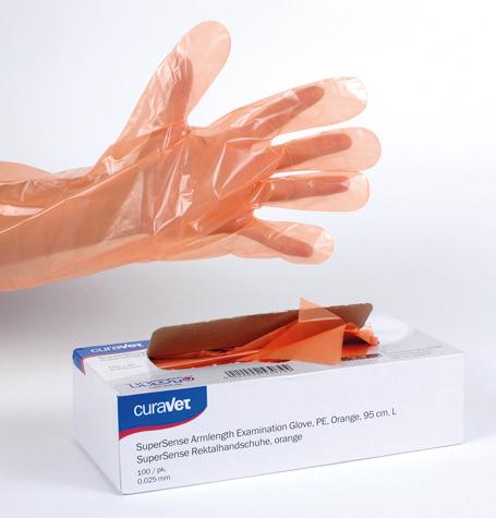 CURAVET SuperSense Examination Glove, Orange