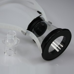 Anaesthetic Facemask, w/rubber diaphram opening Ø 4 cm, w/neckstrap, S